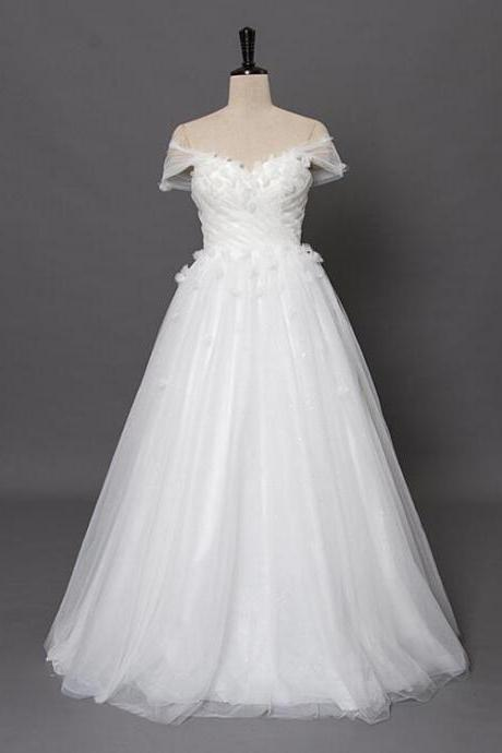 Flowers Cap sleeves V neckline Beach wedding dresses 2016 Bridal Summer Boho Cheap Bridal Gown